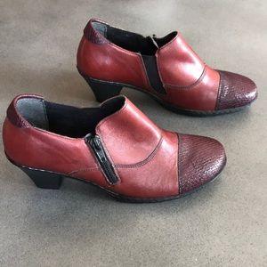 Rieker antistress ankle zipper heel leather shoes